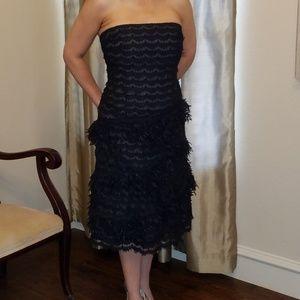 Carmen Marc Valvo Black Tea Dress